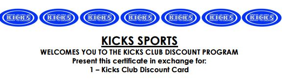 Kicks Sports Coupon – 15% Off